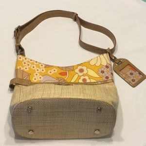 Spartina 449 Summer House Linen & Leather Purse